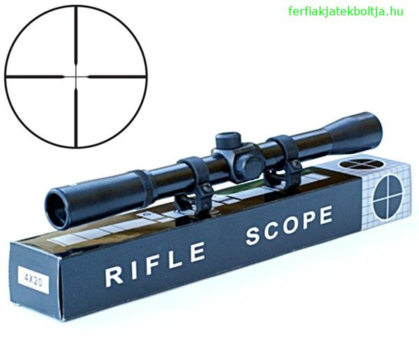 Rifle Scope fegyvertávcső, 4x20