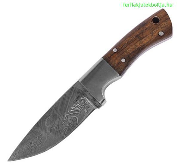 Damaszkpengés tőr fa markolattal, 0397004501