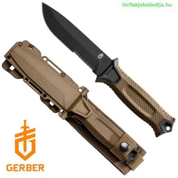 c9030b192d Gerber Strongarm taktikai tőr, félig fogazott pengével, coyote, 22-30-001059