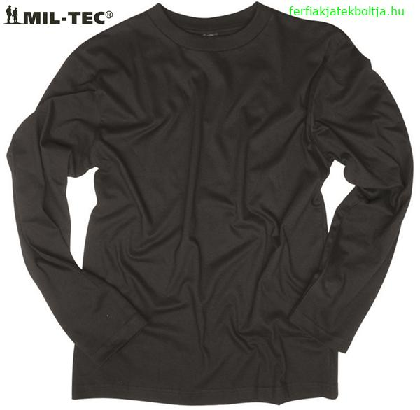 fc7a4a6d44 US hosszúujjú póló, fekete, 11065002 - Férfias játékok webáruháza ...