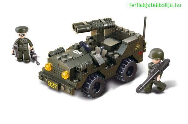 Sluban Jeep gépágyúval építőjáték, B5800