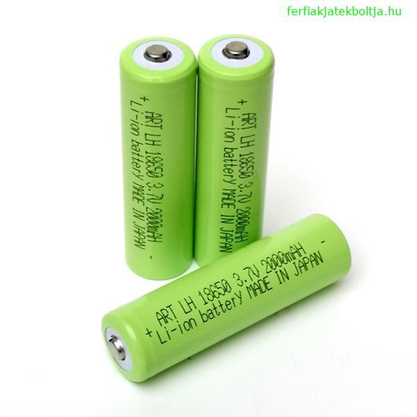Líthium-ion akkumulátor, 18650, 3,7V