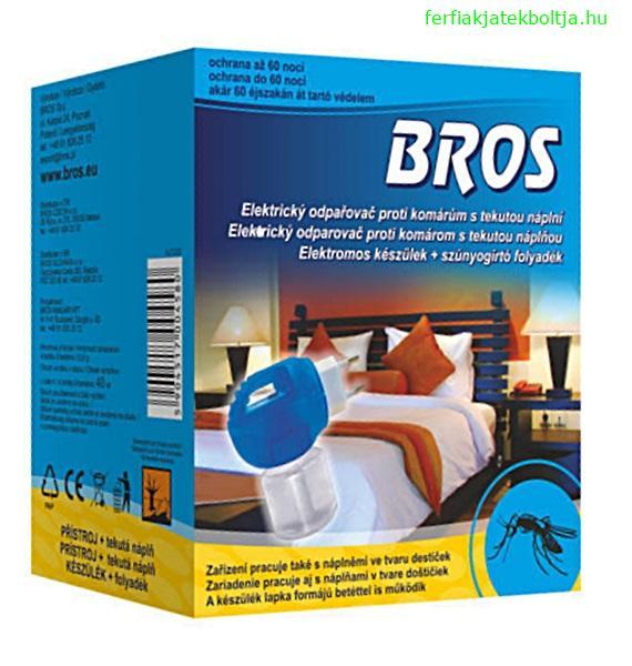 BROS beltéri szúnyogirtó elektromos készülék + folyadék