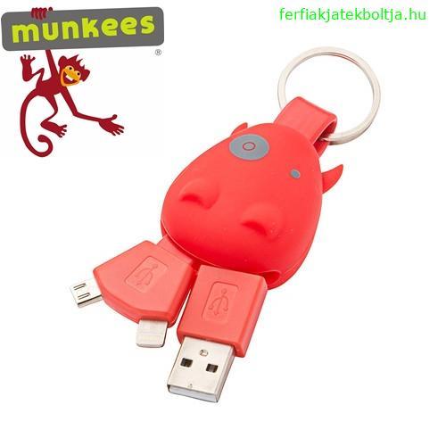 Munkees kulcstartó USB töltővel, 3700