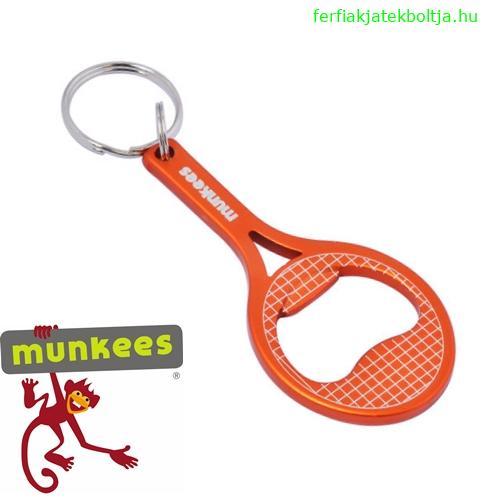 Munkees sörnyitó kulcstartó, teniszütő, 3473