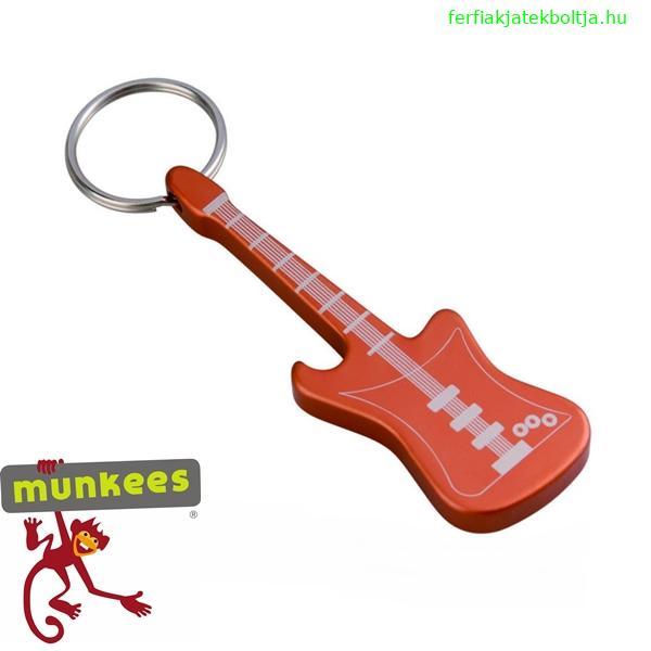 Munkees sörnyitó kulcstartó, gitár, 3418