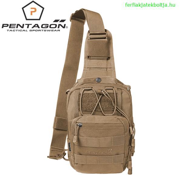 Pentagon UCB taktikai válltáska pisztolytartóval, coyote, K17046