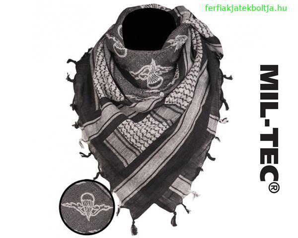 """Palesztin kendő (shemagh) """"Ejtőernyős"""", fekete-fehér, 12609302"""