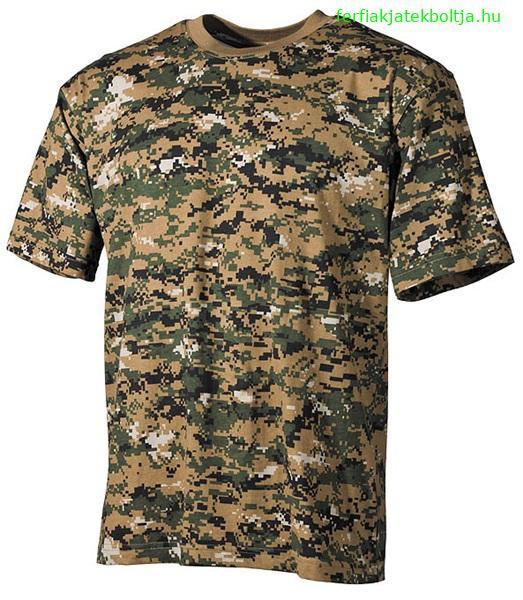 5e4c83a862 Terepszínű katonai póló, digital woodland, 00104C - Férfias játékok ...