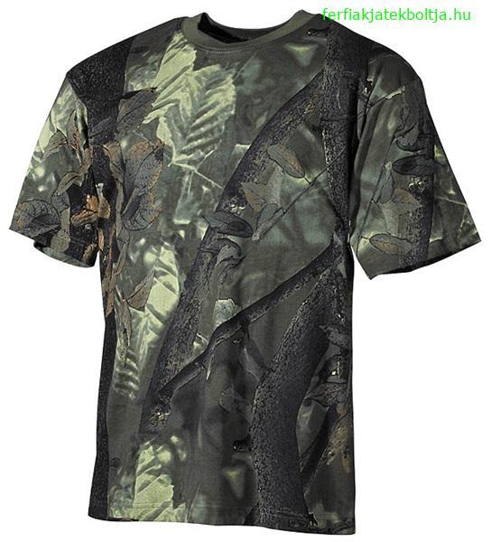 9613835149 Nagyon jó minőségű terepszínű T-shirt erősített nyakkal vadászathoz,  túrázáshoz, stb.