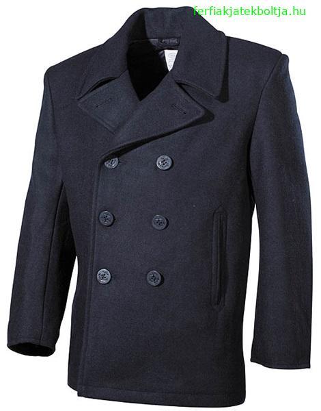 Tengerész gyapjú kabát