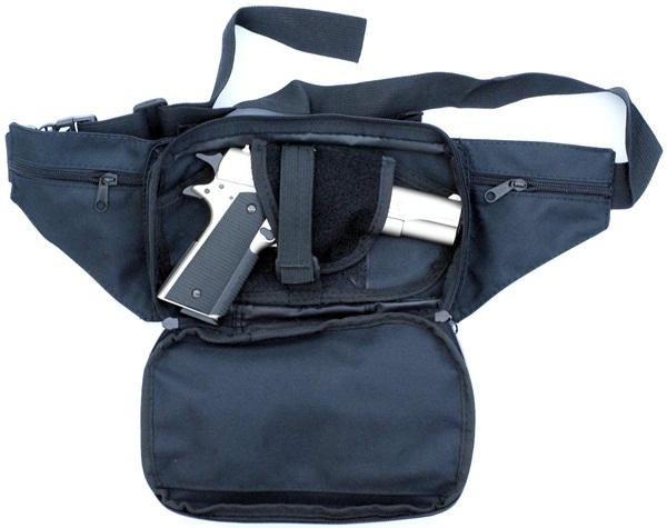 Övtáska pisztolytartóval, fekete, 30975A