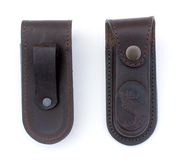 Bőr bicskatok szarvas mintával, 11 cm-es