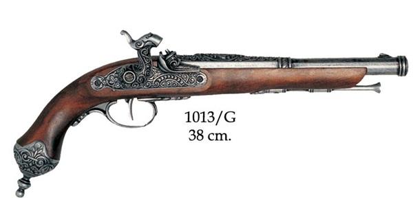 Olasz csappantyús pisztoly, ezüst, 100-1013