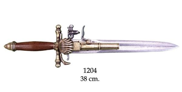 Francia tőr-pisztoly, 1204