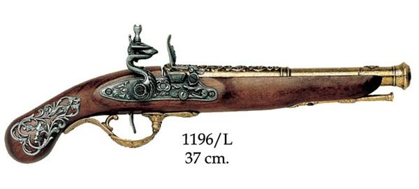 Angol kovás pisztoly, arany,  100-1196