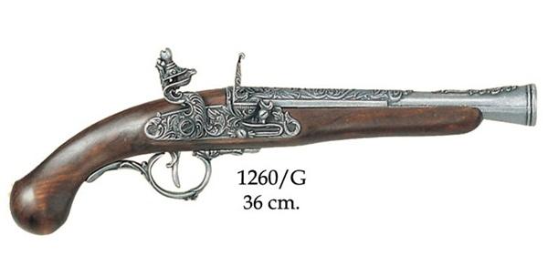 Germán kovás pisztoly, ezüst, 100-1260
