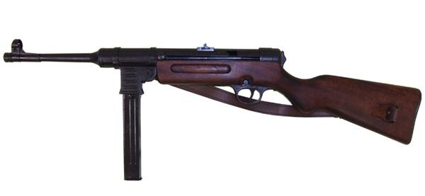 """MP41 """"Schmeisser"""" géppisztoly bőr szíjjal,100-112"""