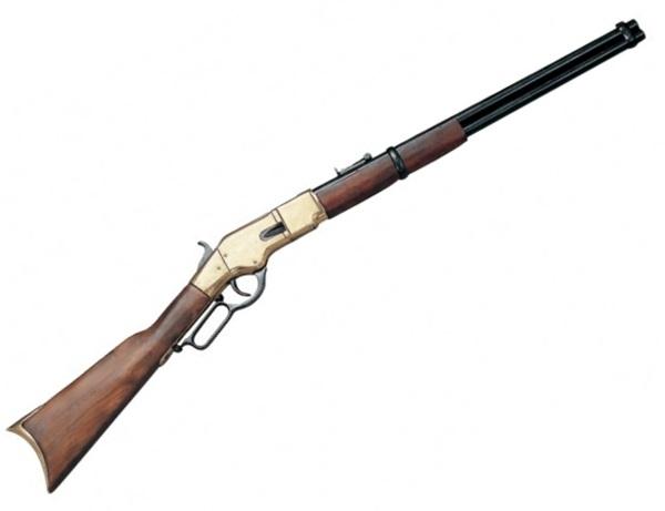 Winchester M1866 puska, arany színű, 100-144