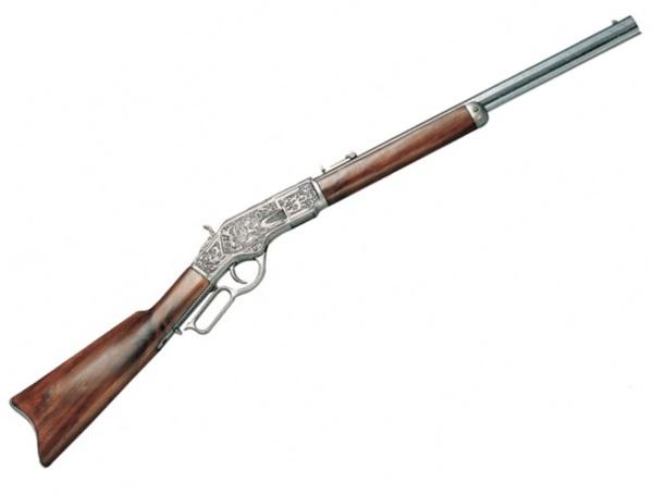 Winchester M73 gravírozott, ezüst színű, 100-1253