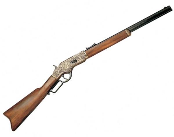 Winchester M73 gravírozott, arany színű, 100-2530