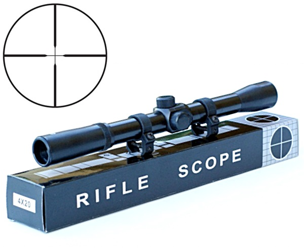 Rifle Scope fegyvertávcső, 4x20