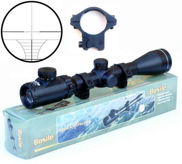 Bosile fegyvertávcső, 3-9x40, világítós szálkereszt