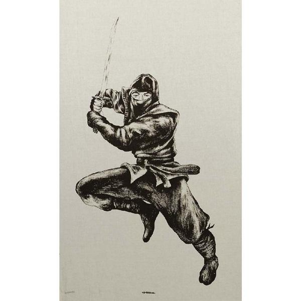 Ninja mintás kendő, 51373