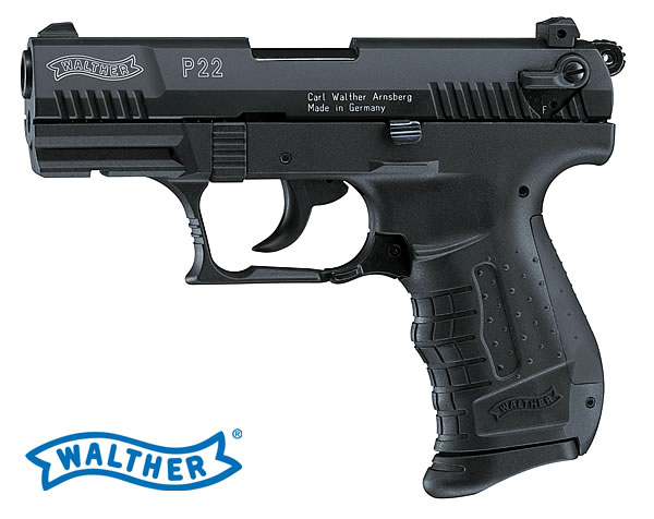 Walther P22 gázpisztoly, 9 mm, fekete