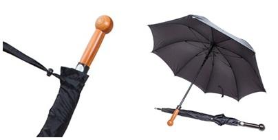 Önvédelmi esernyő bunkós markolattal, 90cm
