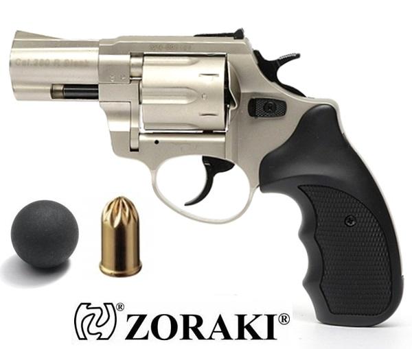 "Zoraki R1 GG gumilövedékes revolver, 2,5"", nikkel"
