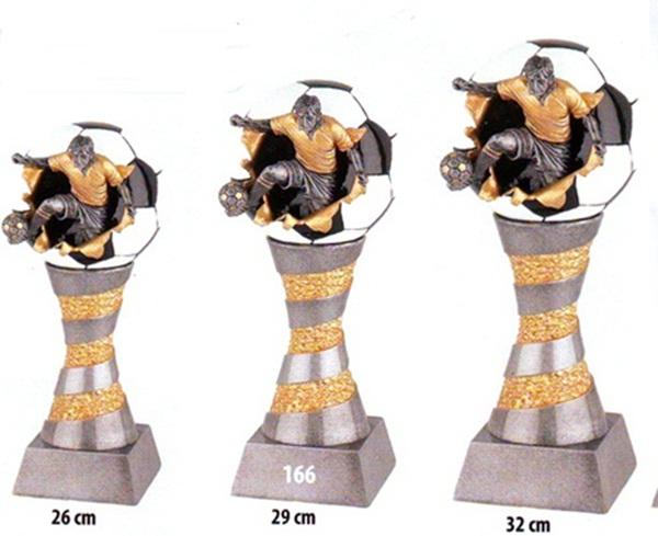 Labdarúgó trófea, 166-29