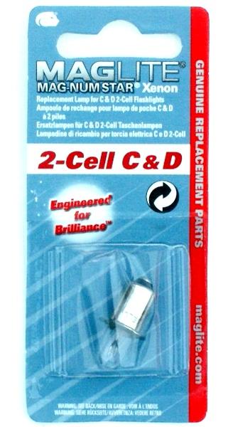 MagLite Xenon izzó, 2-Cell C&D,