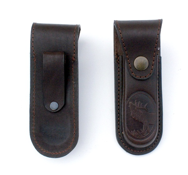 Bőr bicskatok szarvas mintával, 13 cm-es