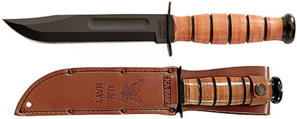 Ka-Bar U.S. Navy bőr tokkal, KB-1225