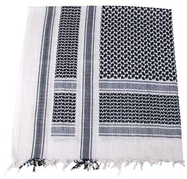 Palesztin kendő (shemagh), fekete-fehér, 16503A