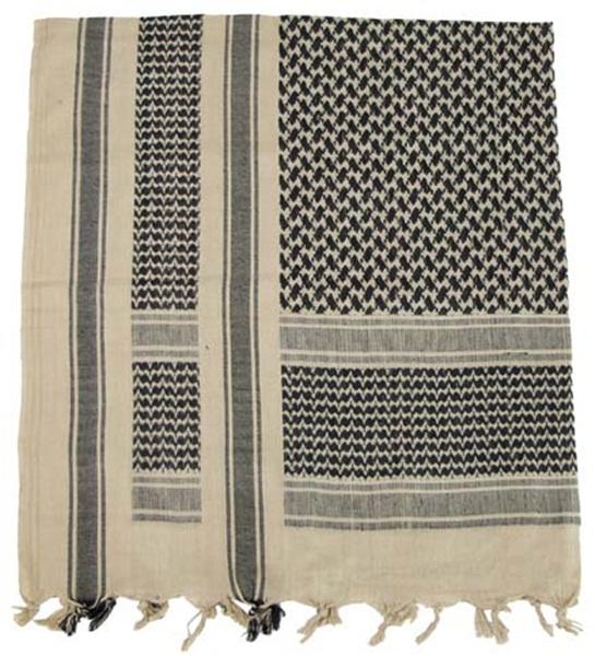 Palesztin kendő (shemagh), homokszínű-fekete, 16503F