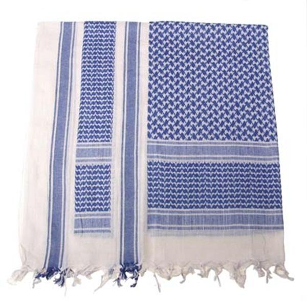 Palesztin kendő (shemagh), kék-fehér, 16503G