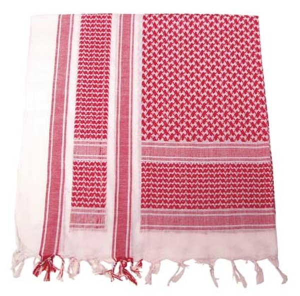 Palesztin kendő (shemagh), piros-fehér, 16503I