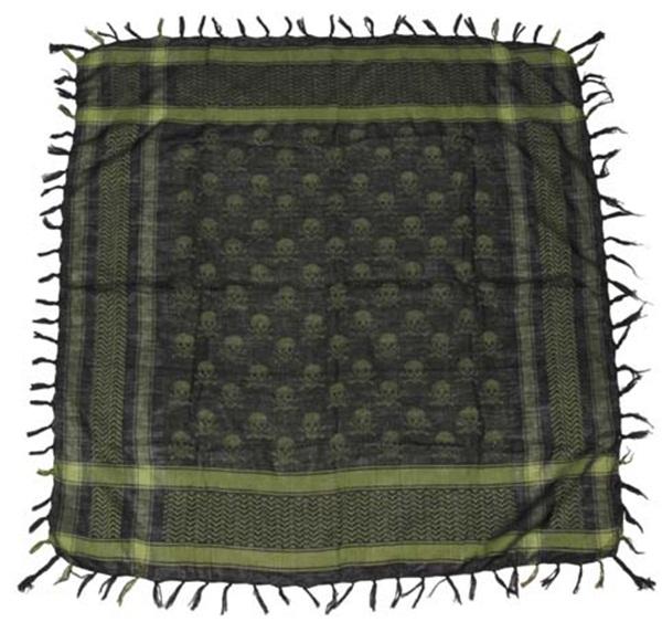 Palesztin kendő (shemagh), olív-fekete, 16513B