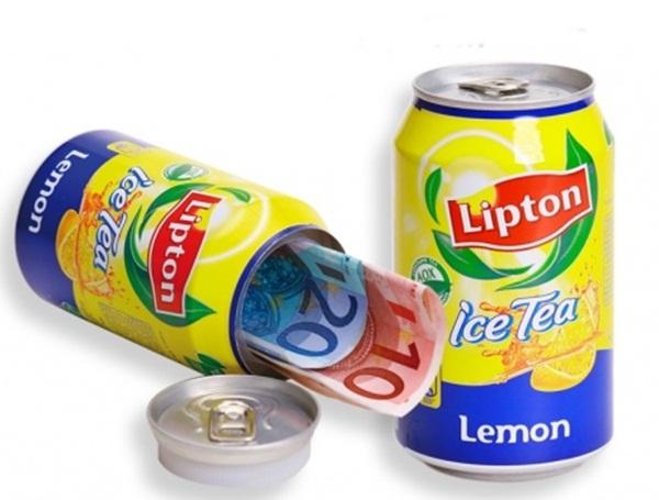 Titkos rejtekhely Lipton Eistee dobozban