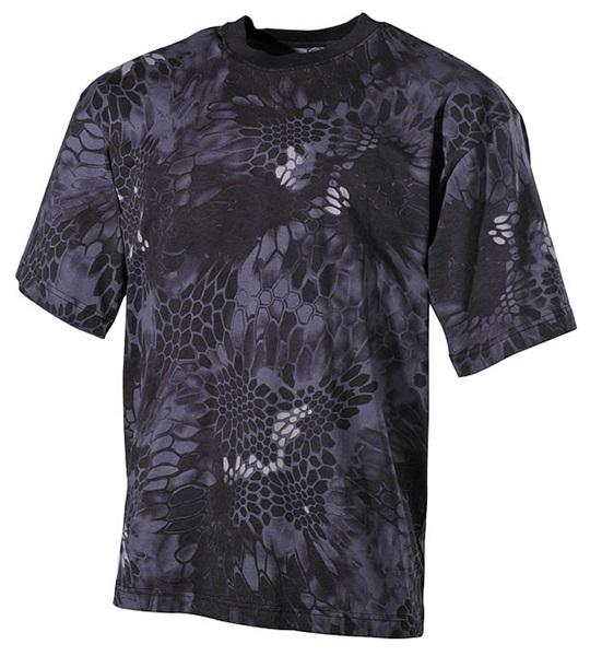 Póló kígyóbőrös mintával, snake black, 00105N
