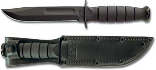 Ka-Bar Short Black, bőr tokkal, KA1256
