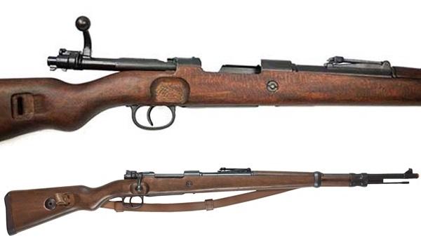 Mauser K98 replika fegyverszíjjal, 100-146
