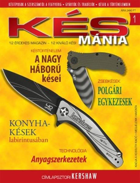 Késmánia magazin ajándék késsel, 1. szám, 2015 október