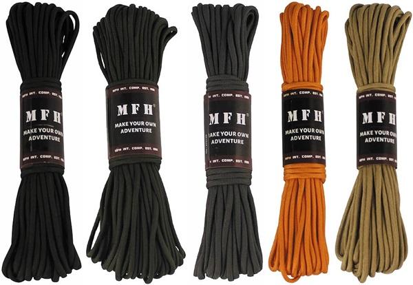 Paracord (ejtőernyős) kötél, színes, 30 méter, 27515