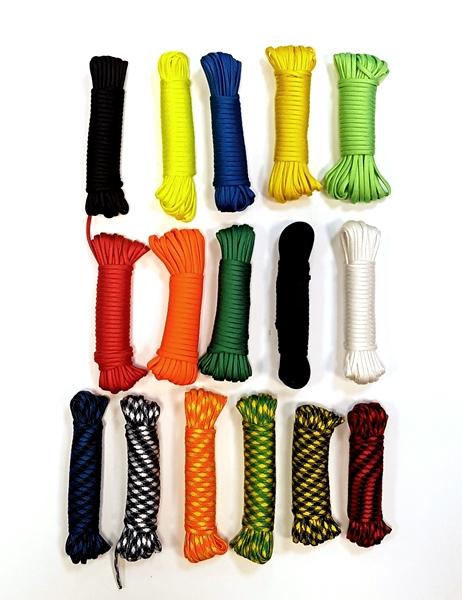 Paracord  kötél, színes, 10 m-es