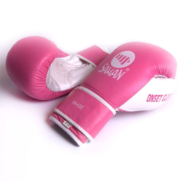 Saman Onset Glove boxkesztyű, bőr, pink, 10 OZ, 2463