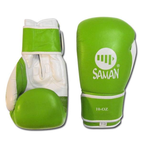 Saman Onset Glove boxkesztyű, bőr, zöld, 10 OZ, 2462