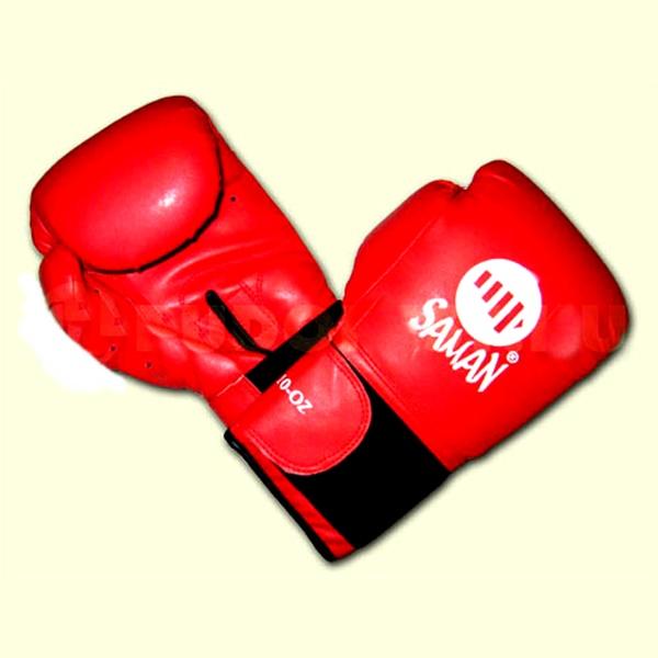 Saman PU Star boxkesztyű, műbőr, piros, 10 OZ, 2126